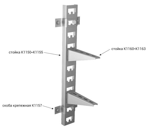 полки кабельные К1160-К1163 крепление фото